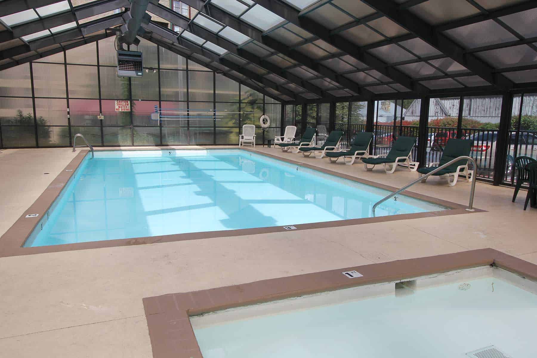 swimming pool at Black Bear Inn & suites in Gatlinburg