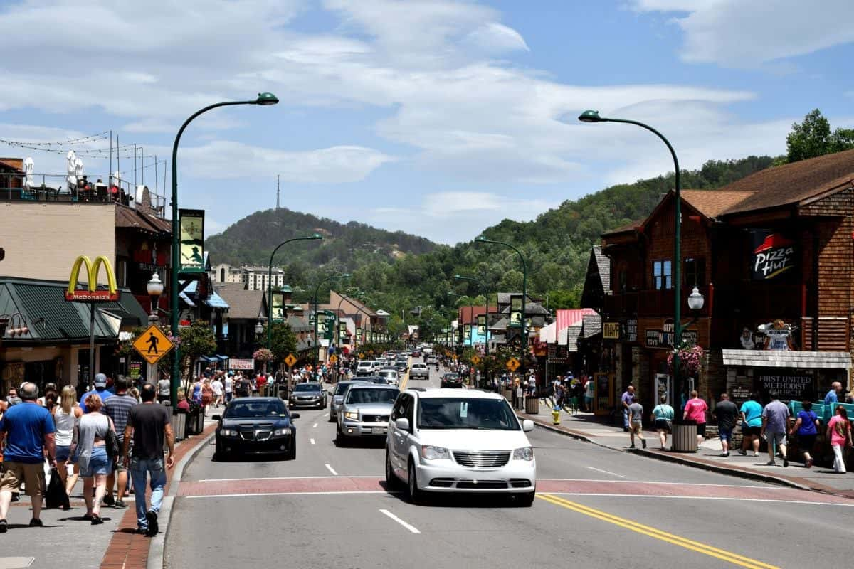 Downtown Gatlinburg In Summer