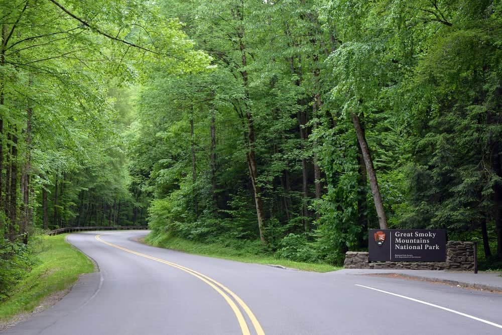Entrance to the Great Smoky Mountains National Park