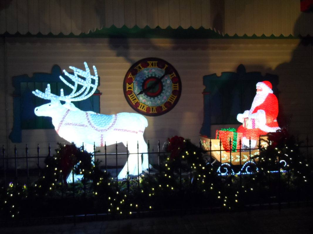 Santa Claus display at A Christmas Place