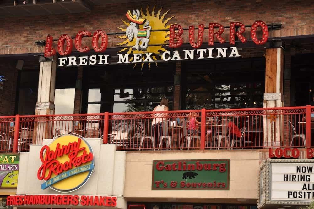 loco burro fresh mex cantina in gatlinburg